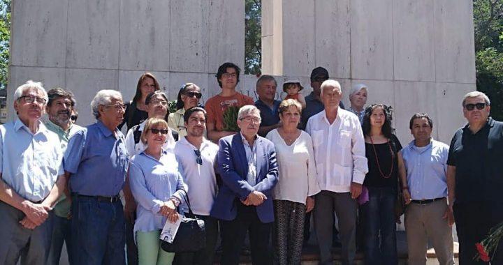 La JRME, acompaña a la delegación de la República de Cuba en su homenaje en el Cementerio General a los compañeros Internacionalistas, al presidente Salvador Allende, a Gladys Marín y Miguel Enríquez